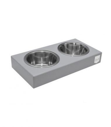 voerbak voor honden duo grijs
