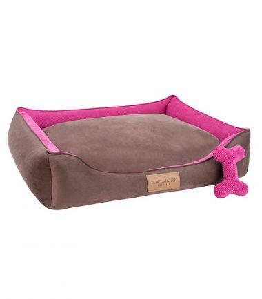 Hondenmand classic roze